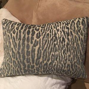 Leopard slate throw pillow